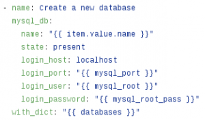 Ansible MySQL role
