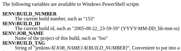 PowerShell Variables