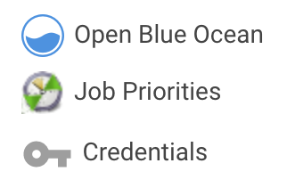 Job Priorities in the menu