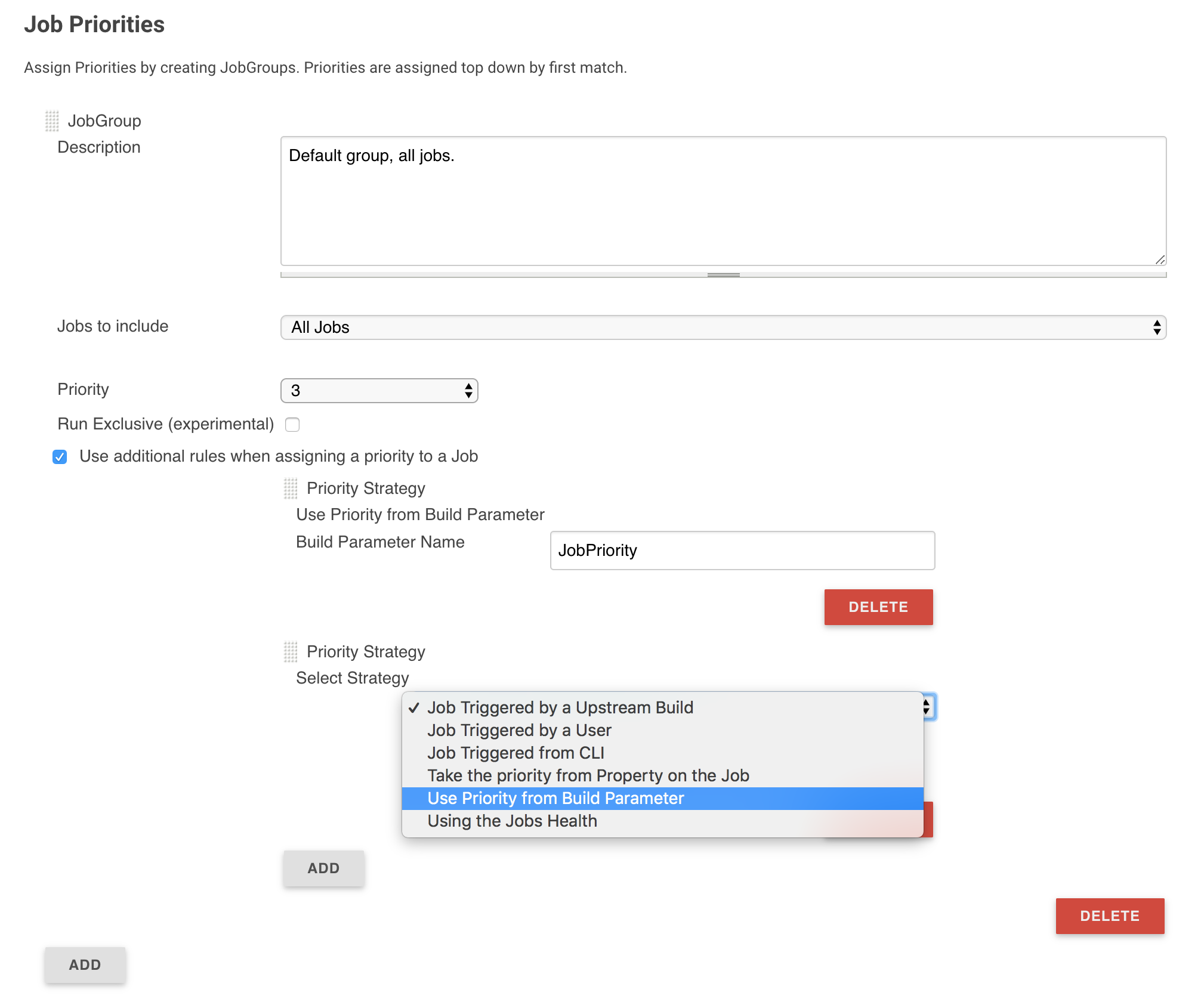 Jenkins build priority - how to specify Virtualizatio'n'automation