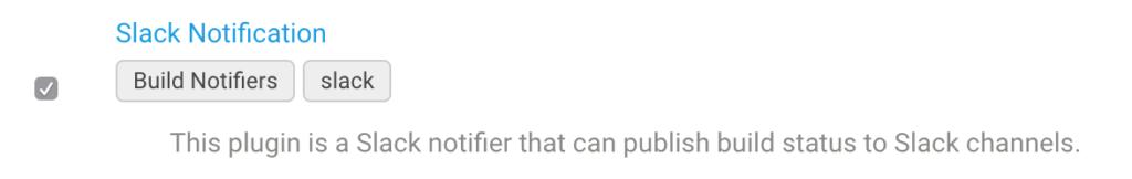 Valid Slack plugin in Jenkins