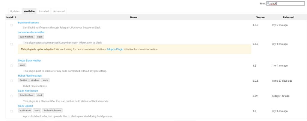 Slack Plugins list